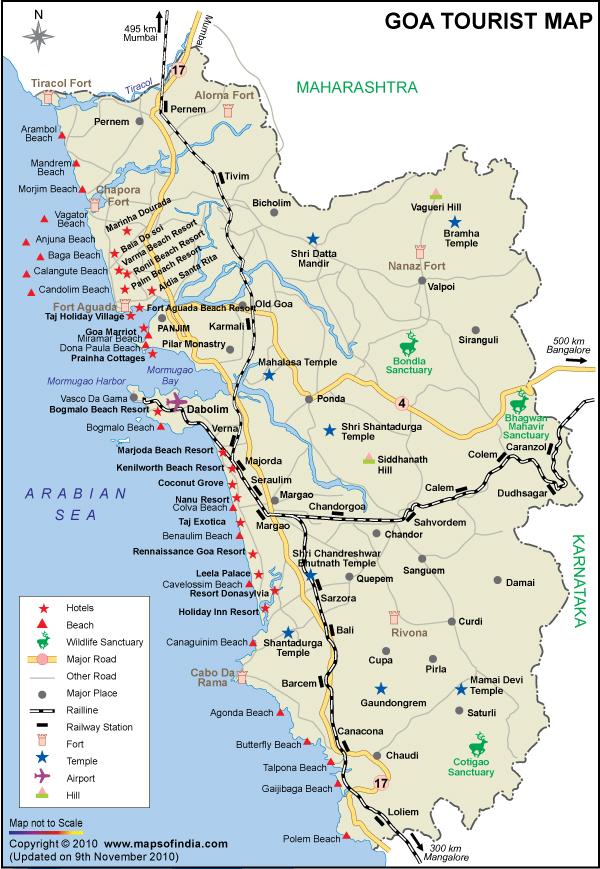 Goa map map of goa india india maps maps india maps of india goa map gumiabroncs Image collections