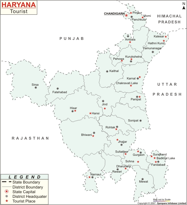 Haryana India Map.Haryana Map Map Of Haryana India India State Maps India City Maps