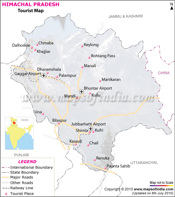 Manali India Map.Himachal Pradesh Map Map Of Himachal Pradesh India India Maps