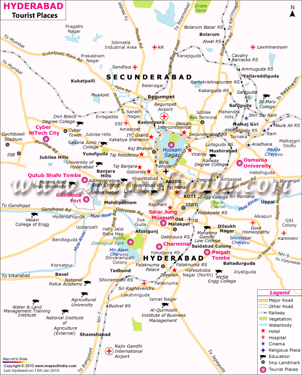 Hyderabad On India Map.Hyderabad Map Map Of Hyderabad India India Maps Maps India Maps