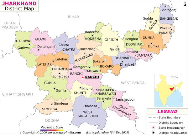Location Of Ranchi In India Map.Jharkhand Map Map Of Jharkhand India India Maps Maps India Maps