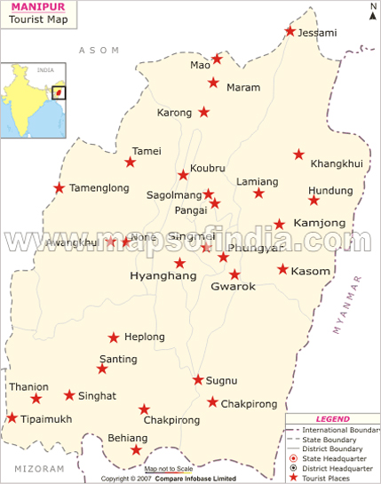Manipur Map Map Of Manipur India India Maps Maps India Maps Of