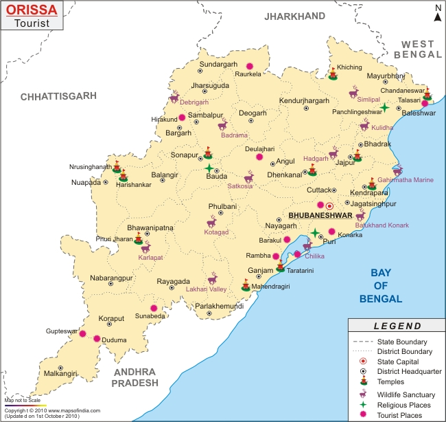 Orissa Map