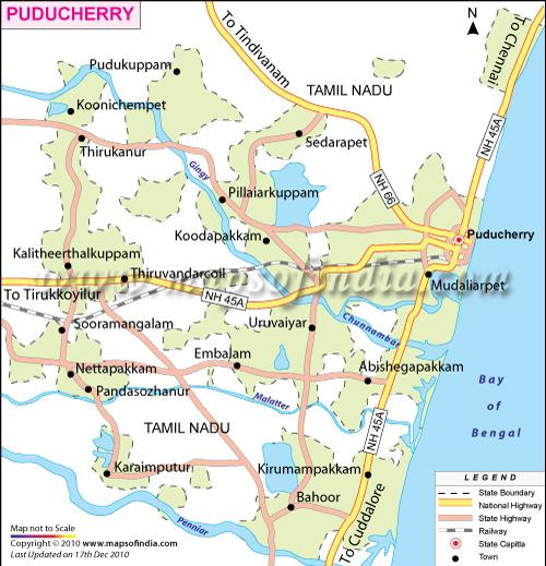 Pondicherry India  city photos gallery : ... of Pondicherry India, India Maps, Maps India, Maps on India, Map India
