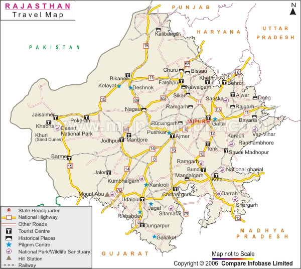 Rajasthan Map Map Of Rajasthan India India Maps Maps India Maps