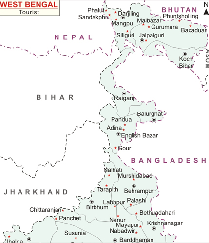 West Bengal Map, Map of West Bengal India, India Maps, Maps