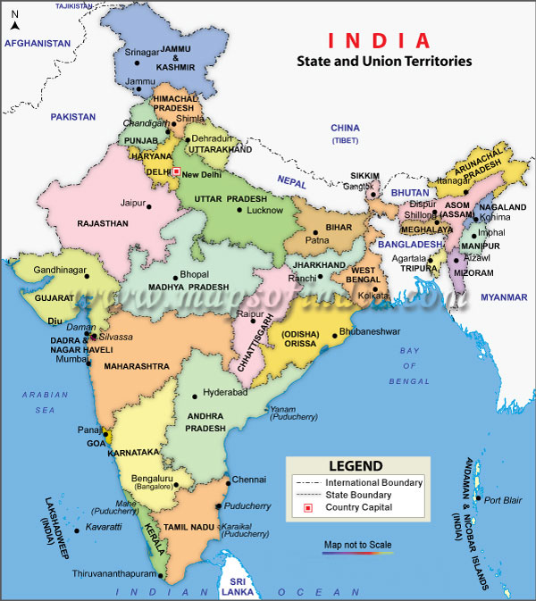 Map Of India With States And Cities Map of India, India Maps, Maps India, Maps of India, India Map  Map Of India With States And Cities